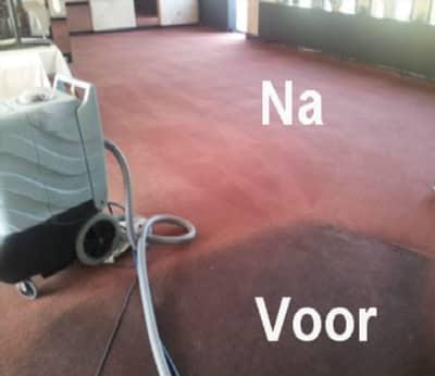 vloerbedekking reinigen voor en na