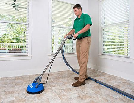 professionele grindvloer reiniging